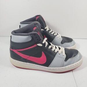 Nike Women Backboard High Top Shoes Pink Grey Whit